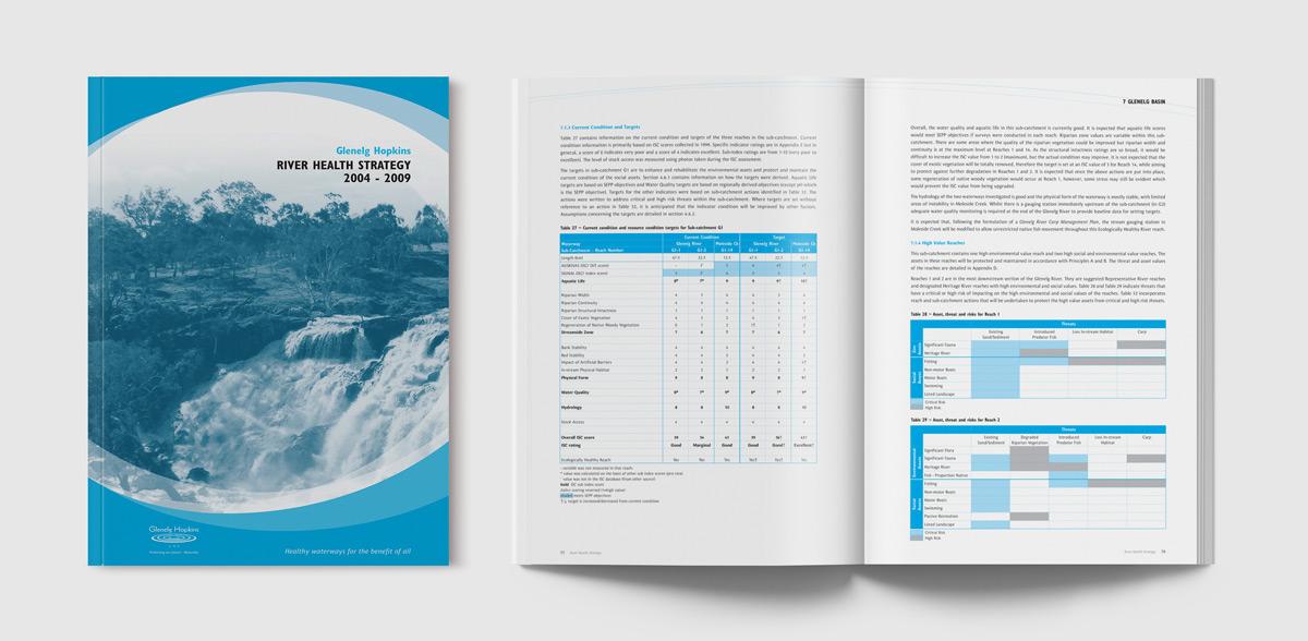 Glenelg Hopkins Publication design