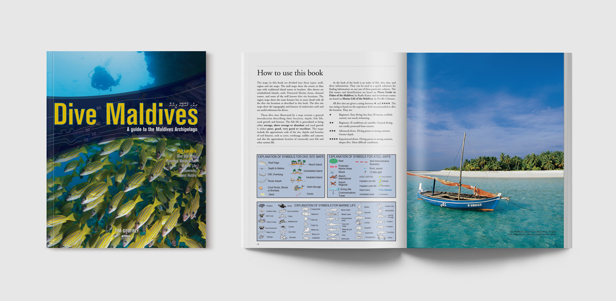 Dive Maldives Publication design