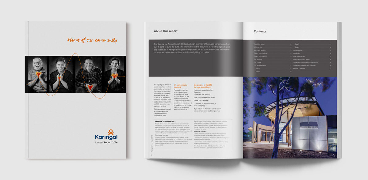 Karingal AR2016 Publication design